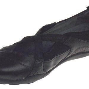 Clarks Privo Black Leather 10 Mary Jane Flats